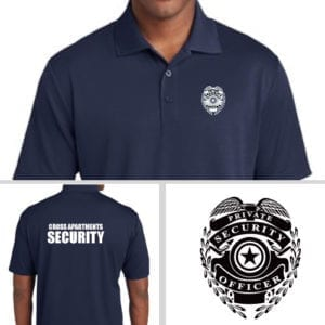Customized Security Polos with Security Badge
