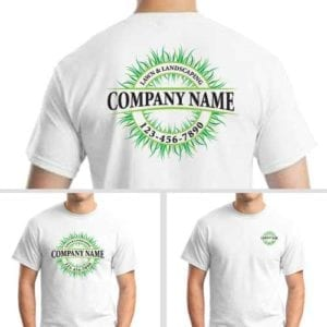Full Color Lawn Care Logo Uniform
